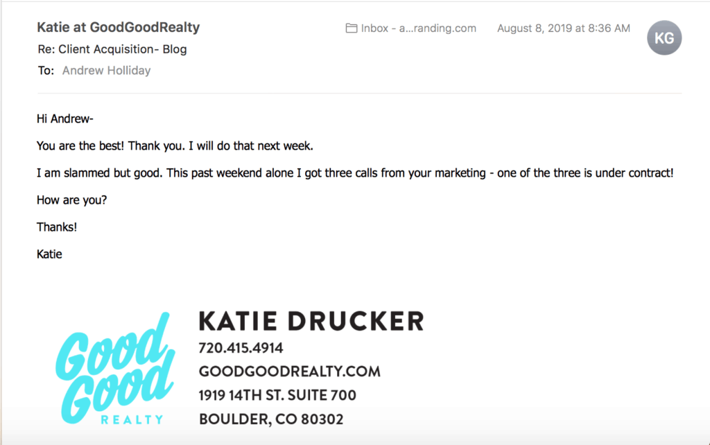 Happy Client Email