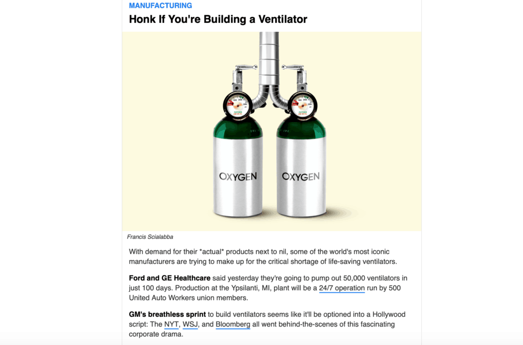 Morning Brew Email Newsletter Example